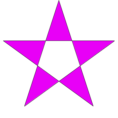 This shape, the familiar 5 pointed star, is a polygon having 5 ...